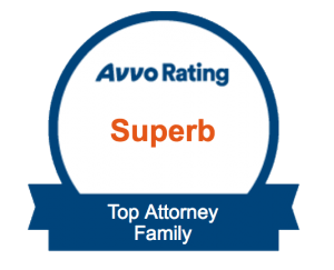 This attorney is rated as a Superb Top Attorney for Family Law by Avvo.